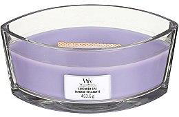 Parfumuri și produse cosmetice Lumânare aromată în suport de sticlă - Woodwick Hearthwick Flame Ellipse Candle Lavender Spa