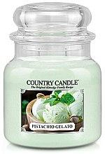 Parfumuri și produse cosmetice Lumânare aromată (borcan) - Country Candle Pistachio Gelato
