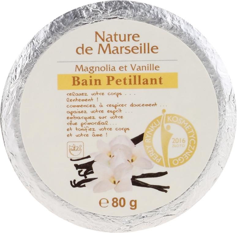 Bombă de baie cu aromă de magnolie și vanilie - Nature de Marseille Magnolias&Vanilla