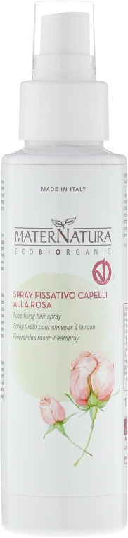 Spray pentru fixarea părului - MaterNatura Rose Fixing Hair Spray — Imagine N1