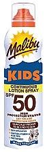 Parfumuri și produse cosmetice Loțiune impermeabilă de protecție solară pentru copii - Malibu Sun Kids Continuous Lotion Spray SPF50