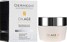 Parfumuri și produse cosmetice Cremă de zi cu Fito Estrogen anti-îmbătrânire 40-60+ - Dermedic Oilage Tri Oleum