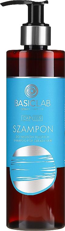 Șampon pentru păr gras - BasicLab Dermocosmetics Capillus Shampoo For Greasy Hair — Imagine N2