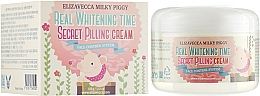 Parfumuri și produse cosmetice Peeling-cremă împotriva petelor de vârstă pentru față - Elizavecca Face Care Milky Piggy Real Whitening Time Secret Pilling Cream