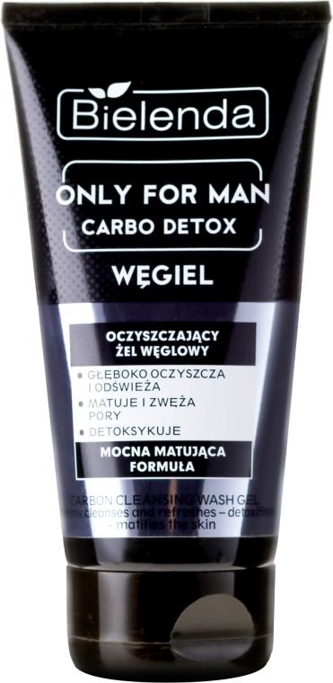 Gel de curățare pentru față - Bielenda Only For Men Carbo Detox Gel — Imagine N1