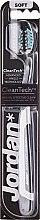 "Periuță de dinți ""Expert Clean"", moale, gri + negru - Jordan Tandenborstel Expert Clean Soft — Imagine N1"