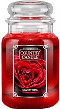 Parfumuri și produse cosmetice Lumânare aromată în suport de steclă - Country Candle Scarlet Rose