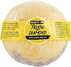 "Parfumuri și produse cosmetice Bombă de baie ""Yellow Diamond"" - Beauty Jar With Grape Seed Oil Natural Bath Bomb"