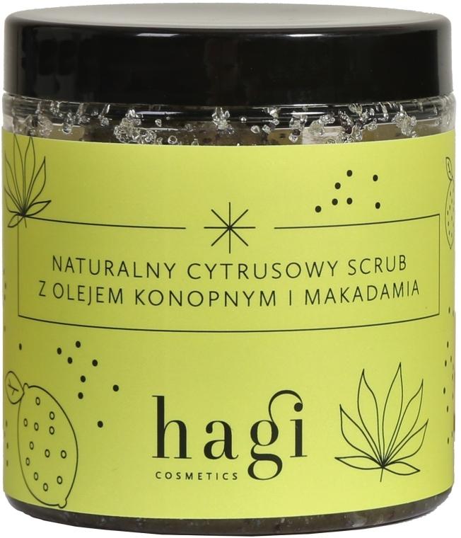 Scrub natural de citrice cu ulei de cânepă și macadamie - Hagi Scrub — Imagine N1