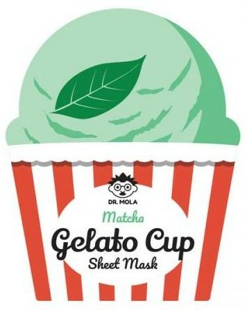 Mască de față - Dr. Mola Matcha Gelato Cup Sheet Mask — Imagine N1
