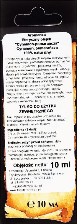 """Ulei aromat """"Portocală scorțișoară"""" - Aromatika — Imagine N3"""