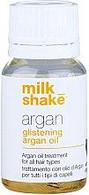 Parfumuri și produse cosmetice Ulei de argan pentru refacerea și strălucirea părului - Milk_Shake Argan Glistening Argan Oil