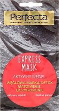 Parfumuri și produse cosmetice Mască de față cu cărbune activ și argilă verde - Perfecta Express Mask