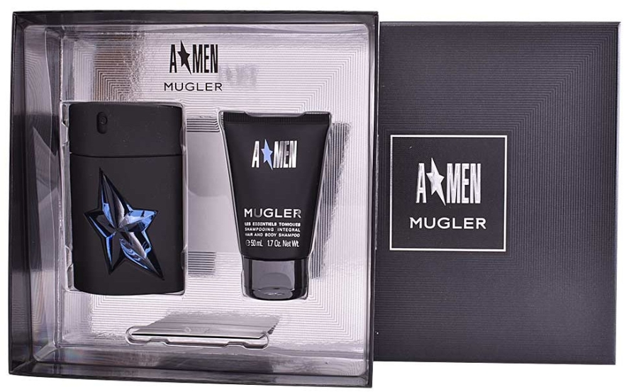 Mugler A*men - Apă de toaletă (edt/50+sh/gel 50 ml) — Imagine N2