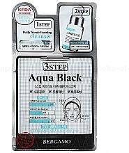 Parfumuri și produse cosmetice Mască în trei etape pentru față - Bergamo 3Step Black Aqua Mask Pack