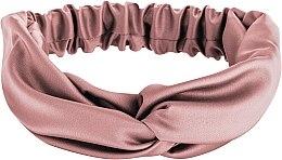 "Parfumuri și produse cosmetice Bentiță din satin, roz pudrat ""Satin Twist"" - MakeUp Hair Accessories"