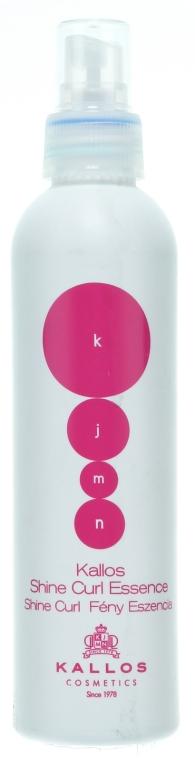 Spray esență pentru păr creț - Kallos Cosmetics Shine Curl Essence — Imagine N1