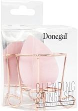 Parfumuri și produse cosmetice Burete de machiaj, cu suport, roz - Donegal