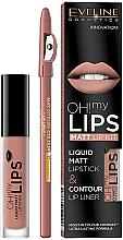 Parfumuri și produse cosmetice Set - Eveline Cosmetics Oh! My Lips (lipstick/4.5/g + l/pencil/1/g)