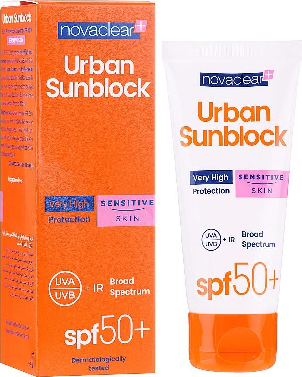 Cremă cu protecție solară pentru ten sensibil - Novaclear Urban Sunblock Protective Cream Sensitive Skin SPF50