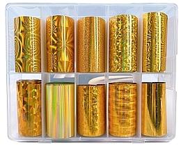 Parfumuri și produse cosmetice Set folii de transfer - Deni Carte Gold Holo