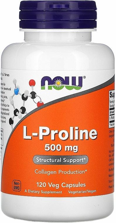 Capsule Proline pentru articulații, 500 mg. - Now Foods L-proline