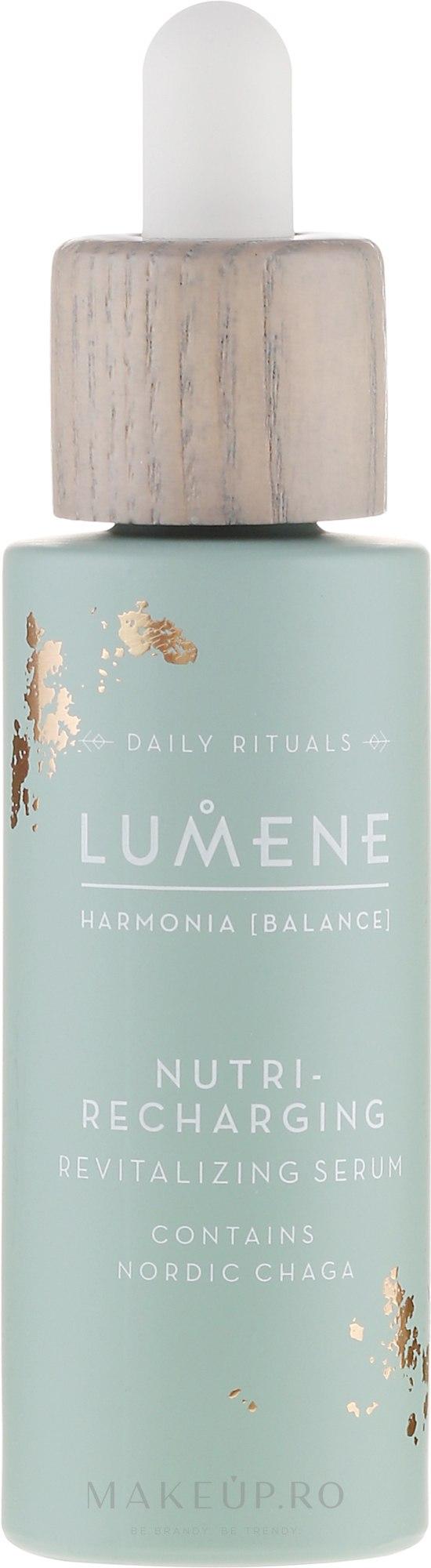 Ser regenerant pentru față - Lumene Harmonia Nutri-Recharging Revitalizing Serum — Imagine 30 ml