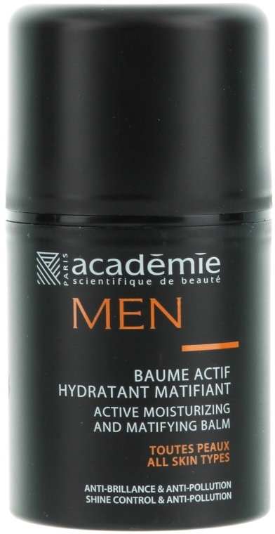 Active Balsam hidratant și matifiant - Academie Men Active Moist & Matifying Balm — Imagine N1