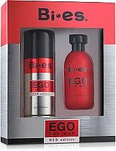 Parfumuri și produse cosmetice Bi-Es Ego Red Edition - Set (edt/100ml + deo/150ml)