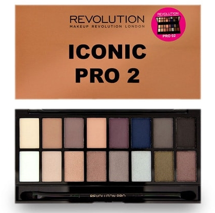 Paleta fard de ochi, 16 nuanțe - Makeup Revolution Salvation Eyeshadow Palette Iconic Pro 2