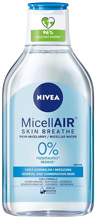 Apă micelară revigorantă 3în1 pentru piele normală și combinată - Nivea Micellar Refreshing Water