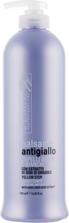Balsam anti-îngălbenire pentru părul deschis la culoare - Black Professional Line Yellow Stop Conditioner