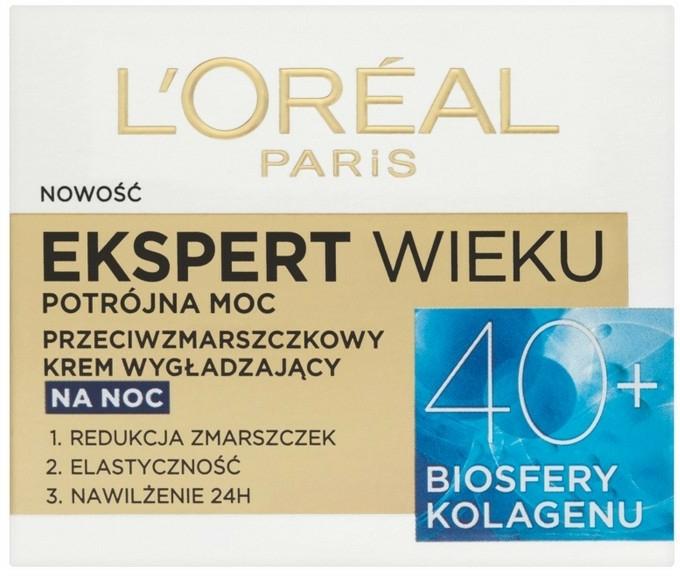 Cremă de noapte pentru față - L'Oreal Paris Age Specialist Expert Night Cream 40+