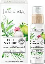 Ser facial - Bielenda Eco Nature Coconut Water Green Tea & Lemongrass Detox & Mattifyng Serum — Imagine N1