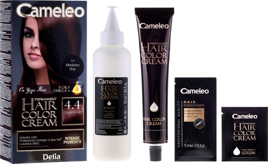 Vopsea de păr cu ulei de argan - Delia Cameleo