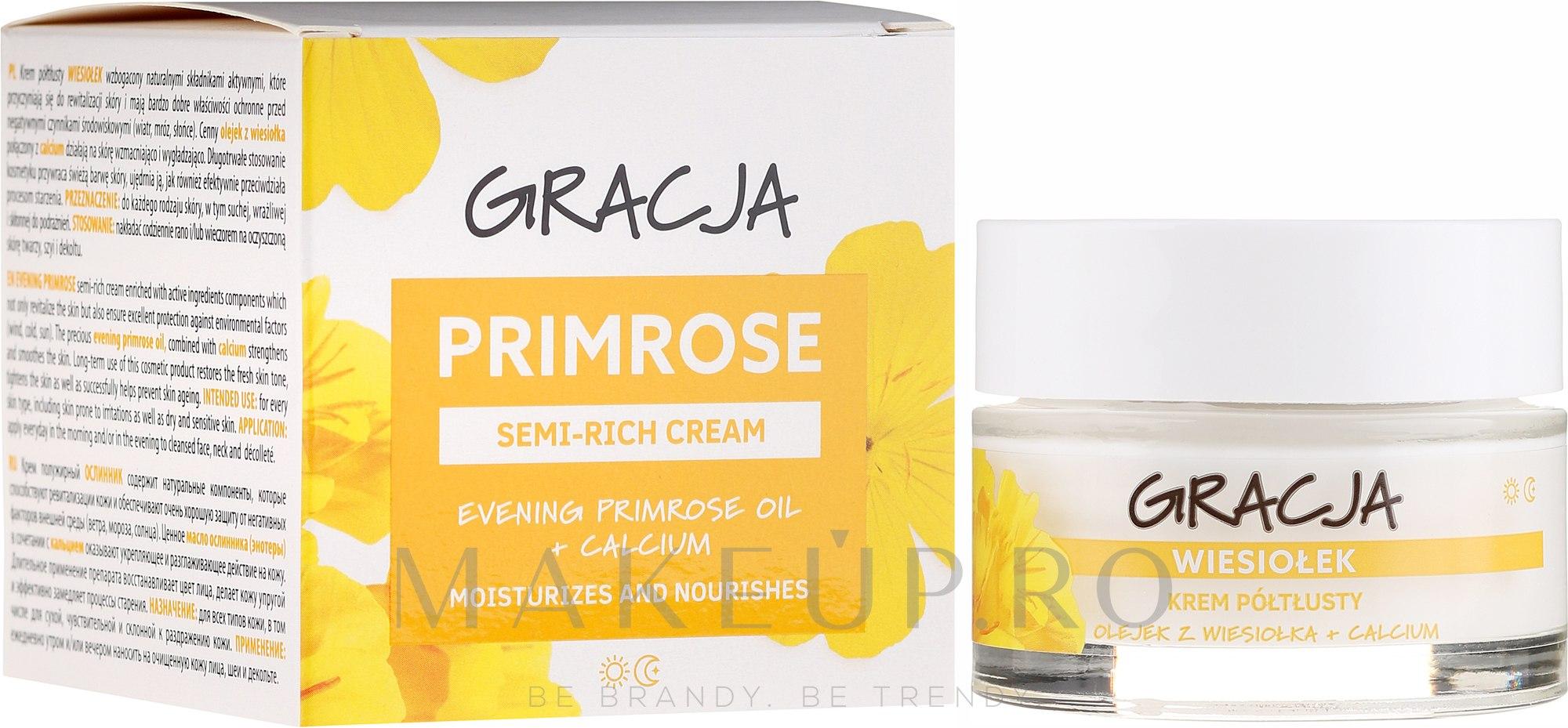 Cremă nutritivă cu ulei de primulă - Gracja Semi-oily Cream With Evening Primrose — Imagine 50 ml