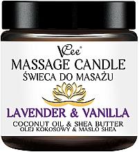 Parfumuri și produse cosmetice Lumânare pentru masaj cu lavandă și vanilie - VCee Massage Candle Lavender & Vanilla Coconut Oil & Shea Butter