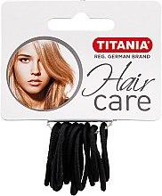 Parfumuri și produse cosmetice Elastice mici pentru păr, negre - Titania