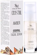 Parfumuri și produse cosmetice Gel seric din chihlimbar natural - SM Collection Crystal Amber Facial Serum