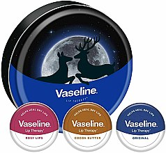 Parfumuri și produse cosmetice Set - Vaseline Lip Therapy Selection (balm/3x20g)