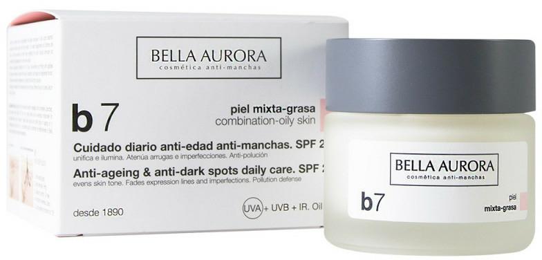 Cremă împotriva petelor pentru ten combinat și gras - Bella Aurora B7 Combination/Oily Skin Daily Anti-Dark Spot Care — Imagine N1