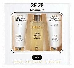 Parfumuri și produse cosmetice Set - GlySkinCare Gold Collagen (cr/2x50ml + serum/50ml)