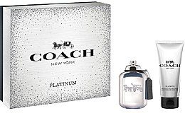 Parfumuri și produse cosmetice Coach Platinum - Set (edp/60ml + sh/gel/100ml)