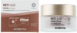 Cremă anti-îmbătrânire pentru pielea uscată a feței, cu trei tipuri de retinol - SesDerma Laboratories Reti Age Facial Antiaging Cream 3-Retinol System — Imagine N1