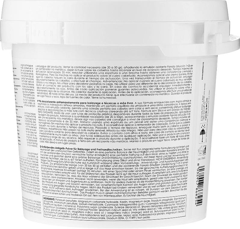 Pastă de păr - Fanola No Yellow Clay Lightner — Imagine N2