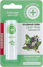 """Parfumuri și produse cosmetice Balsam de buze """"Acțiune triplă"""", plante - Domashnii Doctor"""