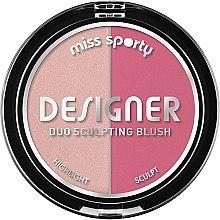 Parfumuri și produse cosmetice Fard de obraz - Miss Sporty Draping Designer Duo Sculpting Blush