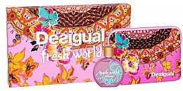 Parfumuri și produse cosmetice Desigual Fresh World - Set (edt/100ml + pouch)