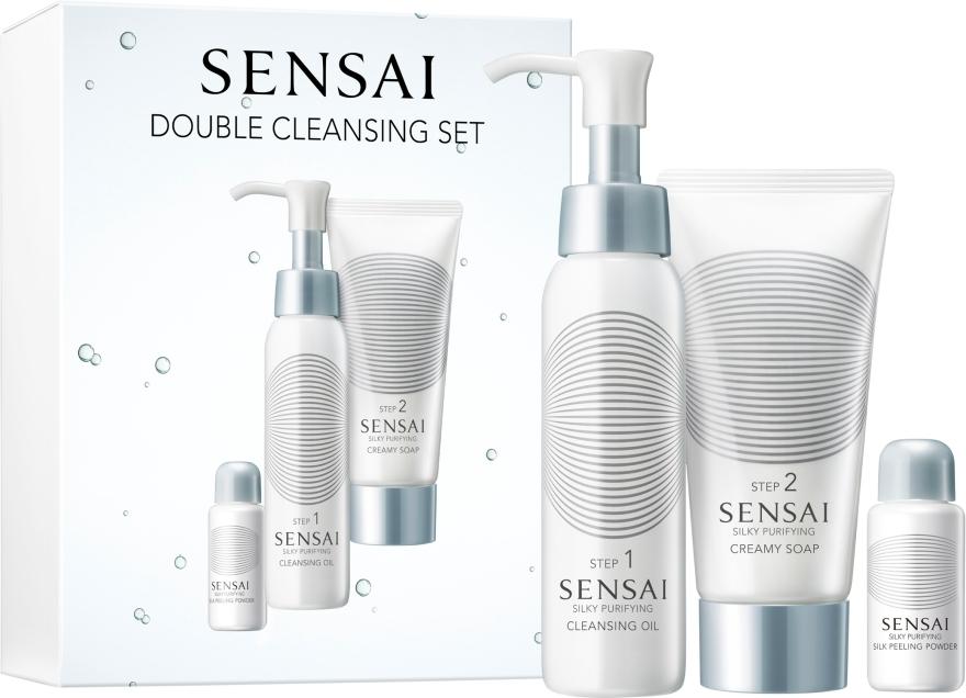 "Set ""Curățare dublă"" - Kanebo Sensai Silky Pur Double Cleansing Set (cl/oil/75ml + soap/75ml + peeling/5g) — Imagine N1"