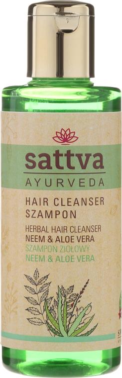 Șampon hidratant - Sattva Cleanser Shampoo Neem Aloe Vera — Imagine N1